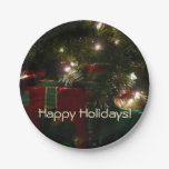 Gifts Under the Tree Christmas Holiday Presents Paper Plate