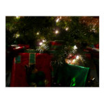 Gifts Under the Tree Christmas Holiday Presents Postcard