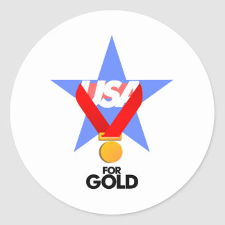 Gifts USA for gold Classic Round Sticker