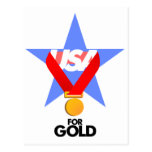 Gifts USA for gold Postcards