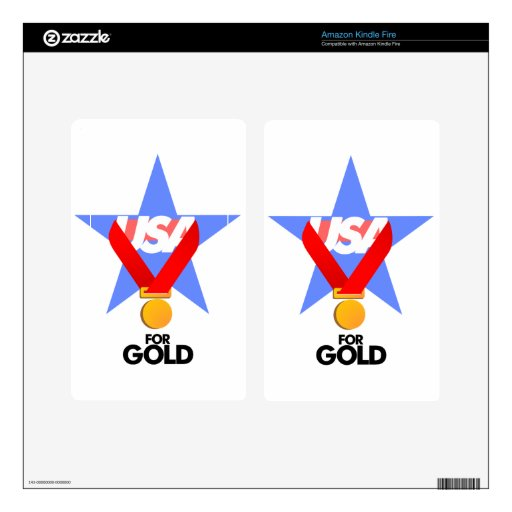 Gifts USA for gold Skins For Kindle Fire