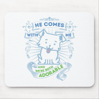 Gifts with a dog for men who are adorable mouse pad