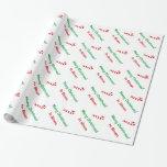 Giftwrap del bastón de caramelo del papel de