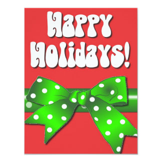 Giftwrap Happy Holidays Custom Invites