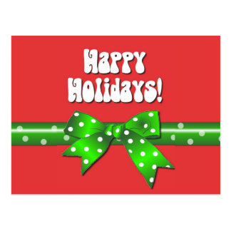 Giftwrap Happy Holidays Postcard