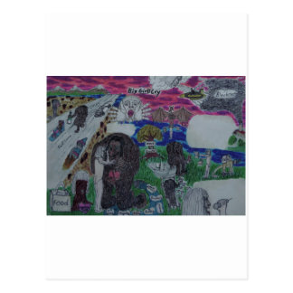 Gig Girls Cry story board, paler Postcard