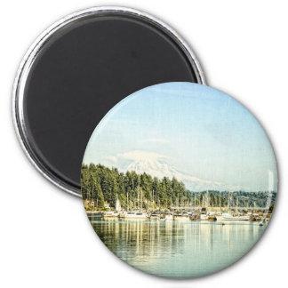 Gig Harbor 2 Inch Round Magnet
