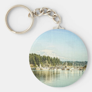 Gig Harbor Basic Round Button Keychain