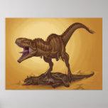 Giganotosaurus carolinii and Carnotaurus Poster