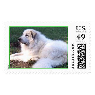 Gigante apacible timbres postales
