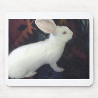 Gigante flamenco blanco del bebé alfombrillas de ratones