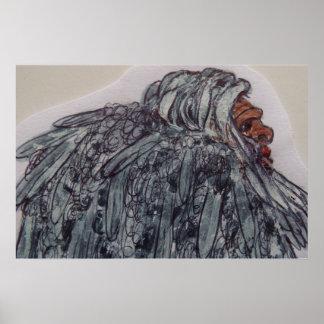 gigante viejo de 8 ft/244 cm Homo erectus Póster