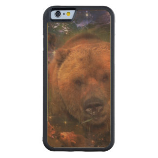 Gigantic Bear with Cubs Carved Maple iPhone 6 Bumper Case