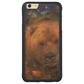 Gigantic Bear with Cubs Carved Maple iPhone 6 Plus Bumper Case