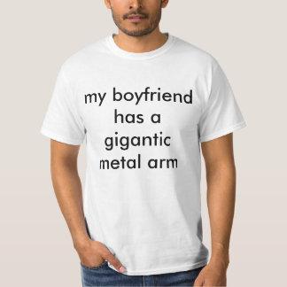 gigantic metal arm t shirt