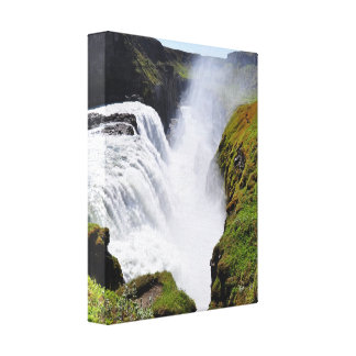 gigantic water fall gallery wrapped canvas