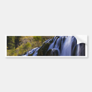 Gigantic Waterfall in a China Jiuzhaigou Bumper Sticker