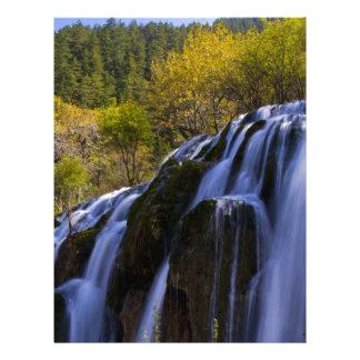 Gigantic Waterfall in a China Jiuzhaigou Letterhead