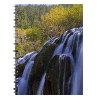 Gigantic Waterfall in a China Jiuzhaigou Spiral Notebook