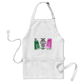 Giganticus Headicus Green & Pink Route 66 Kingman Adult Apron