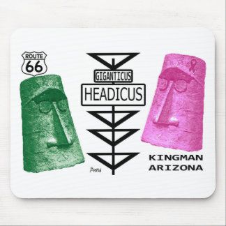 Giganticus Headicus Green & Pink Route 66 Kingman Mouse Pad