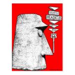 Giganticus Headicus Route 66 Antares road sign Postcards