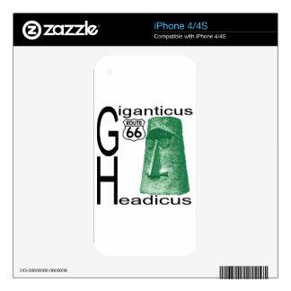 Giganticus Headicus Route 66 Kingman Arizona Decals For iPhone 4