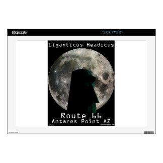 """Giganticus Headicus with Full Moon Route 66 Decals For 17"""" Laptops"""