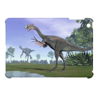 Gigantoraptor dinosaurs in nature - 3D render iPad Mini Cover
