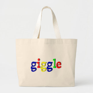 Giggle colorful letters canvas bag