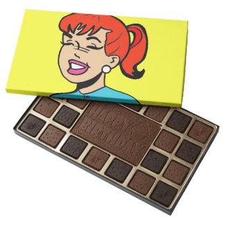 Giggle Comic Strip Box of Chocolates 45 Piece Assorted Chocolate Box