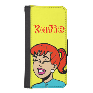Giggle Comic Strip iPhone 5/5S Wallet Case