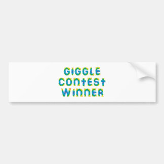 giggle contest more winner bumper stickers