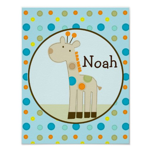 Giggle Gang/Giraffe Personalized Art Poster