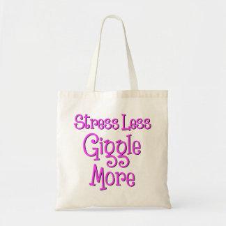 GIGGLE MORE, hot pink ink Tote Bag