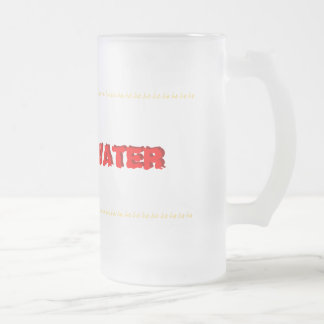 Giggle Water Frosted Glass Beer Mug