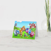GiggleBellie Farm Animals Note Card