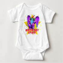 """GiggleBellies""  Birthday Star! Baby Bodysuit"