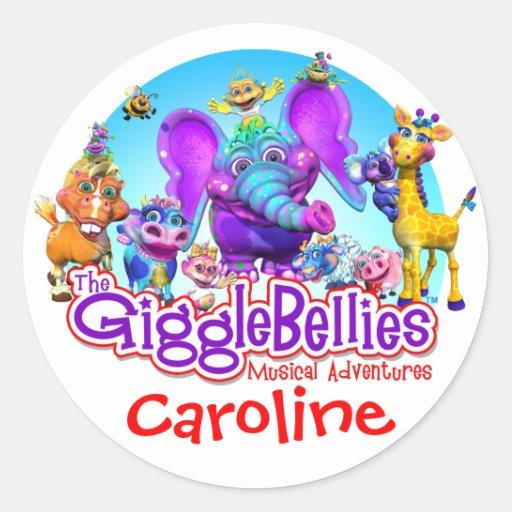 GiggleBellies + El pegatina conocido de su niño
