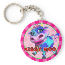 """GiggleBellies"" Kissy Moo the Cow Keychain"
