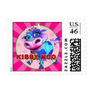 GiggleBellies Kissy Moo the Cow Stamp