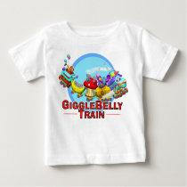 GiggleBellies The GiggleBellie Train Baby T-Shirt