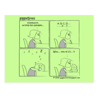giggleBites: Alfabeto de la escritura Postal