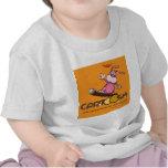 giggleBunnie en la snowboard de Cartoosh Camiseta