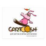 giggleBunnie on Cartoosh snowboard Post Card