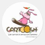 giggleBunnie on Cartoosh snowboard Round Stickers