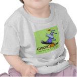 giggleBunny en la snowboard de Cartoosh Camisetas