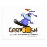 giggleBunny en la snowboard de Cartoosh Postales