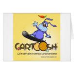 giggleBunny en la snowboard de Cartoosh Felicitacion