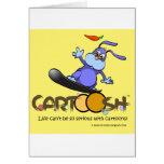 giggleBunny en la snowboard de Cartoosh Felicitaciones
